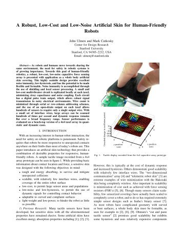 A Robust, Low-Cost and Low-Noise Artificial Skin for Human ...
