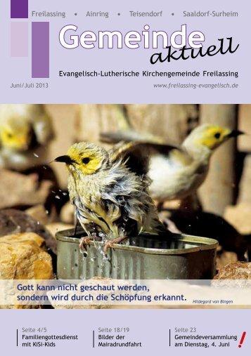 Juni/Juli - Evangelisch-Lutherische Kirchengemeinde Freilassing