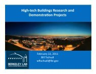 High-tech Buildings Research and Demonstra6on Projects - steab