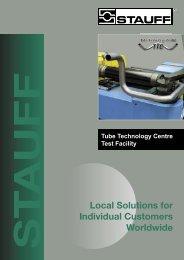 Tube Technology Centre - Test Facility - Stauff