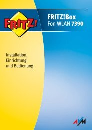 Handbuch FRITZ!Box Fon WLAN 7390 - Sipgate.de