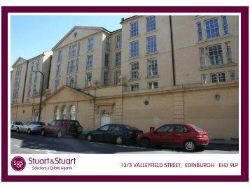 13/3 VALLEYFIELD STREET, EDINBURGH EH3 9LP - Stuart & Stuart