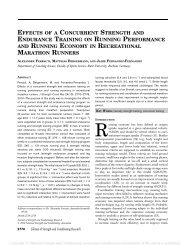 effects of a concurrent strength and endurance training on running ...