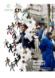 Annual Report 2010 - The Hague Process on Refugees and Migration