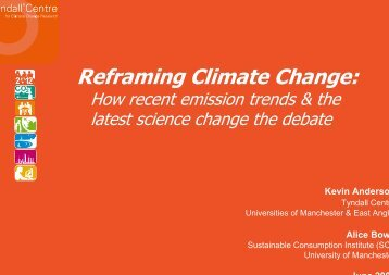 PowerPoint: Reframing Climate Change - Initiative for Policy Dialogue