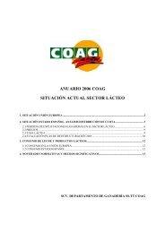 Actualización normativa Sector Lácteo. Plan de ... - Coag