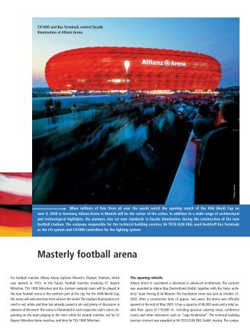 Masterly football arena - PC-Control The New Automation ...