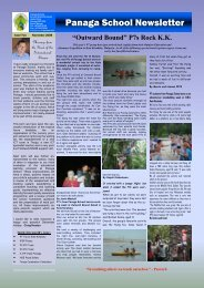 Download NewsLetter November 2008 Issue 2 - Panaga School