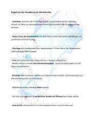 Regeln bei der Gestaltung von Werbebriefen - handelswissen.de