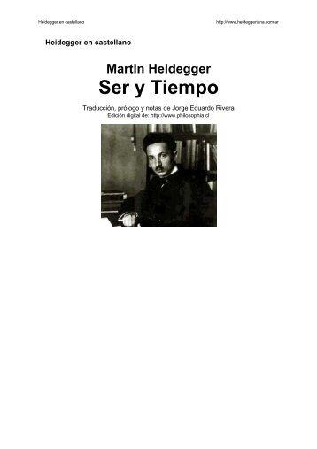 Heidegger en castellano - Ser y Tiempo