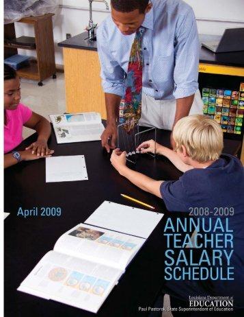 08-09 Salary Schedule Data - Louisiana Department of Education