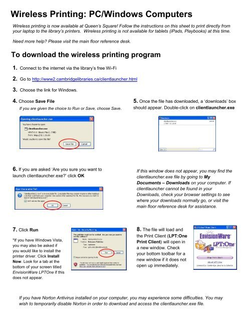 photo relating to Where Can I Print Documents for Free named WiFi printing for Computer system/Home windows - Cambridge Libraries