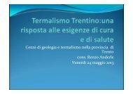 Cenni di geologia e termalismo nella provincia di ... - Trentino Salute