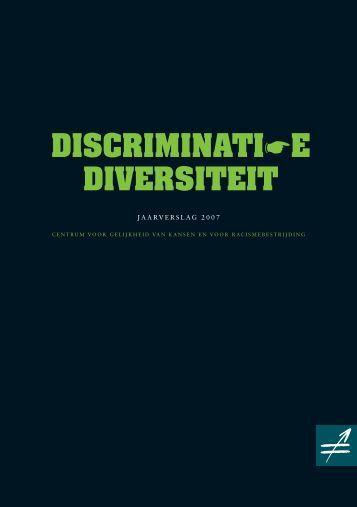 Discriminatie/Diversiteit - Centrum voor gelijkheid van kansen en ...