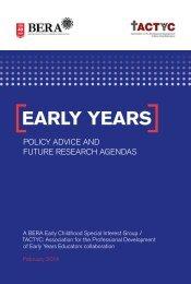 Early Years Policy - BERA-TACTYC_0