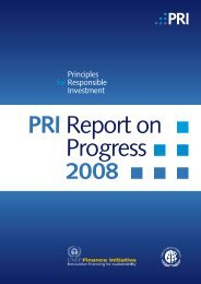 2008 Report on Progress - Principles for Responsible Investment