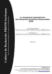 Le changement organisationnel des Entreprises ... - Prism
