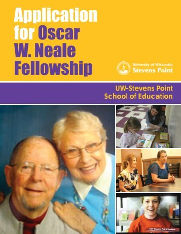 Download Neale Fellowship Application - University of Wisconsin ...