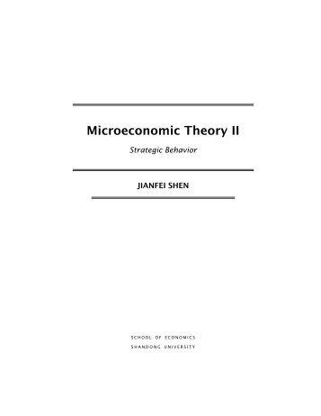 microeconomic theory mas colell pdf