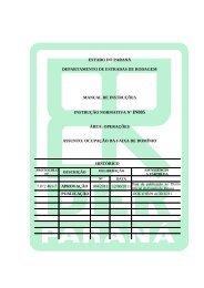 Instrução Normativa IN005 - DER