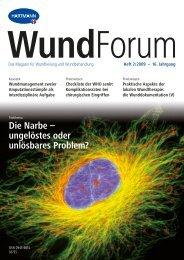 Die Narbe – ungelöstes oder unlösbares Problem? - Hartmann