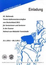 43. Nationale Tennis-Hallenmeisterschaften von ... - DSHM 2011