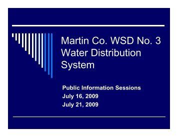 Martin Co WSD No 3 Martin Co. WSD No. 3 Water ... - Martin County