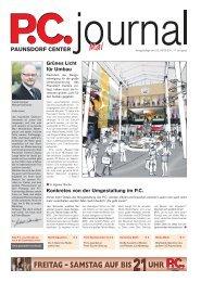 FREITAG – SAMSTAG AUF BIS UHR - Paunsdorf Center