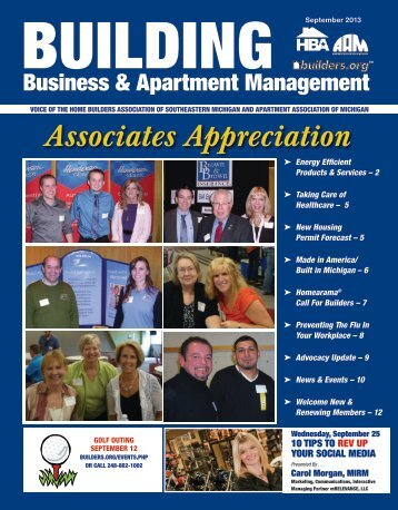 September 2013 BBAM Magazine - HBA of Southeastern Michigan