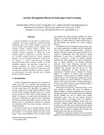 Activity Recognition Based on Semi-supervised Learning