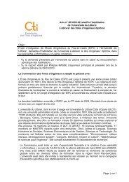 Avis U. du Littoral & EIPC - Commission des Titres d'Ingénieur