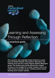 Learning and assessing through reflection: a practical - Routledge
