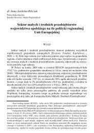 Sektor małych i średnich przedsiębiorstw województwa opolskiego ...