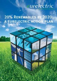 20% Renewables by 2020: A EURELECTRIC Action Plan (October ...