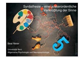 Synästhesie - Allgemeine Psychologie und Neuropsychologie ...