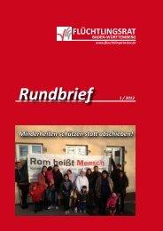 Rundbrief komplett als PDF - Flüchtlingsrat Baden-Württemberg