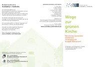 Wege zur grünen Kirche - Spar- und Kreditbank Evangelisch ...