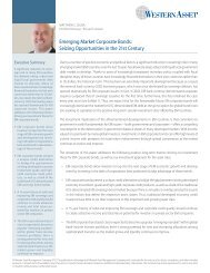 emerging Market Corporate Bonds: Seizing ... - Western Asset