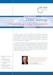 ZWM Trainings - Das ZWM