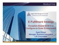 E-Fulfillment Strategy - Summit
