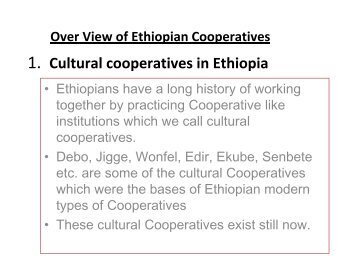 1. Cultural cooperatives in Ethiopia - Division for Social Policy and ...