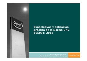 Expectativas y aplicación práctica de la Norma UNE ... - Spainsif