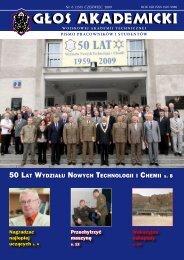 50 lat wydziaÃ…Â'u nowych technologii i chemii s. 8 - Wojskowa ...