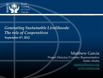 Generating Sustainable Livelihoods - Division for Social Policy and ...