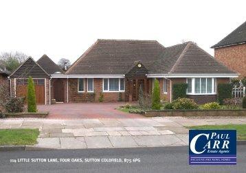 114 Little Sutton Lane Four Oaks Sutton Coldfield B75 6PG