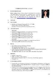 CURRICULUM VITAE al 1/1/2011 - FRBB - UTN - Universidad ...