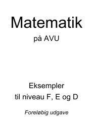 på AVU Eksempler til niveau F, E og D - VUC Aarhus