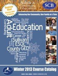 Winter 2013 Course Catalog - Sullivan County BOCES