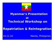 Technical Workshop on Repatriation & Reintegration - Bali Process