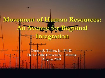 Movement of Human Resources - Global Institute for Asian Regional ...